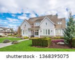 beautiful exterior of newly... | Shutterstock . vector #1368395075