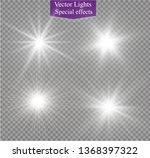 white glowing light explodes on ... | Shutterstock .eps vector #1368397322