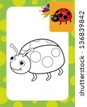 Ladybug Toy. Coloring Page....