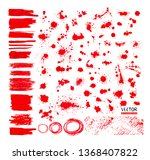 set of multicolored red blots.... | Shutterstock .eps vector #1368407822