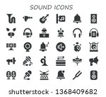 sound icon set. 30 filled sound ...   Shutterstock .eps vector #1368409682