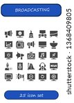 broadcasting icon set. 25... | Shutterstock .eps vector #1368409805