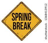 spring break vintage rusty... | Shutterstock .eps vector #1368413912