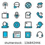 communication   media icon set   Shutterstock .eps vector #136842446