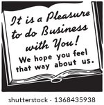 it's a pleasure to do business  ...   Shutterstock .eps vector #1368435938