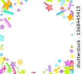 sprinkles grainy. cupcake... | Shutterstock .eps vector #1368445415