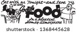 good food   retro ad art banner | Shutterstock .eps vector #1368445628