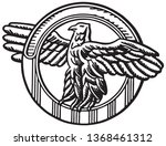eagle symbol   retro ad art... | Shutterstock .eps vector #1368461312