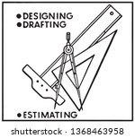 designing and drafting   retro...   Shutterstock .eps vector #1368463958