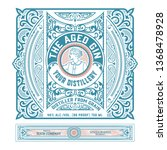 vintage label with gin liquor... | Shutterstock .eps vector #1368478928
