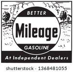 better mileage gasoline   retro ...   Shutterstock .eps vector #1368481055