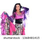 beautiful woman dancer in a... | Shutterstock . vector #1368481415