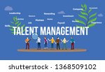 talent management concept with...   Shutterstock .eps vector #1368509102