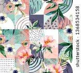 modern seamless geometric and... | Shutterstock . vector #1368534158