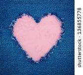 Pink Vintage Heart Shape For...