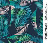 seamless exotic pattern with... | Shutterstock .eps vector #1368583712