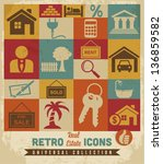 real estate icons set.vector   Shutterstock .eps vector #136859582