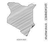 scribble sketch of kenya map...
