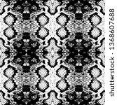 snake skin scales texture.... | Shutterstock .eps vector #1368607688