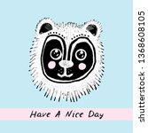 have a nice day  card design... | Shutterstock .eps vector #1368608105
