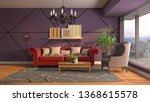 interior of the living room. 3d ... | Shutterstock . vector #1368615578