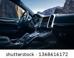 expensive car interior with...   Shutterstock . vector #1368616172