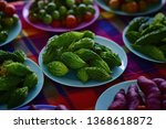 green bitter gourd in market of ... | Shutterstock . vector #1368618872