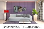 interior of the living room. 3d ... | Shutterstock . vector #1368619028