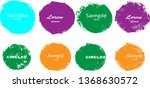 grunge post stamps collection ... | Shutterstock .eps vector #1368630572