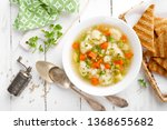 vegetable soup with cauliflower ... | Shutterstock . vector #1368655682