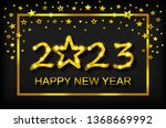 happy new year 2023   greeting... | Shutterstock .eps vector #1368669992