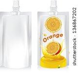 vector illustration. orange ... | Shutterstock .eps vector #136867202