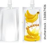 vector illustration. banana... | Shutterstock .eps vector #136867436