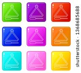 musical triangle icons set 9... | Shutterstock .eps vector #1368685688