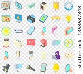 electricity indicator icons set.... | Shutterstock .eps vector #1368687848