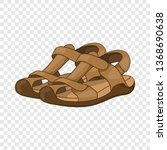 sandals icon in cartoon style...   Shutterstock .eps vector #1368690638