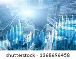 double exposure financial... | Shutterstock . vector #1368696458