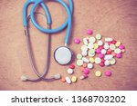 stethoscope and many color of... | Shutterstock . vector #1368703202