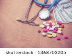 stethoscope and many color of... | Shutterstock . vector #1368703205