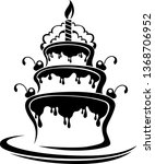 three layer cartoon type...   Shutterstock .eps vector #1368706952