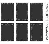 vintage vignette chalkboard set | Shutterstock .eps vector #1368716432