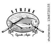 Strike Tshirt Design. Fishing...