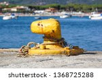 a mooring bollard entwined with ... | Shutterstock . vector #1368725288