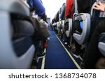 view of passage between seats... | Shutterstock . vector #1368734078