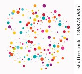celebrate color circle vector... | Shutterstock .eps vector #1368735635