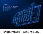 abstract polygonal light design ... | Shutterstock .eps vector #1368751682