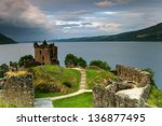 Stock photo famous castle of loch ness 136877495