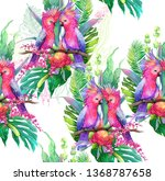 watercolor illustration of two... | Shutterstock . vector #1368787658