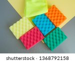 a set of multi colored sponges... | Shutterstock . vector #1368792158