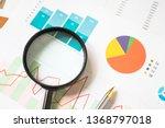 businessman working data chart... | Shutterstock . vector #1368797018